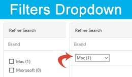 Filters Checkbox to Dropdown