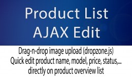 Product List AJAX Edit with drag-n-drop Image Up..