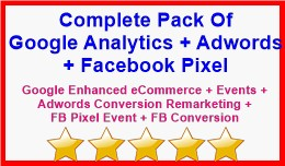 Complete Pack Of Google Analytics + Adwords + Fa..