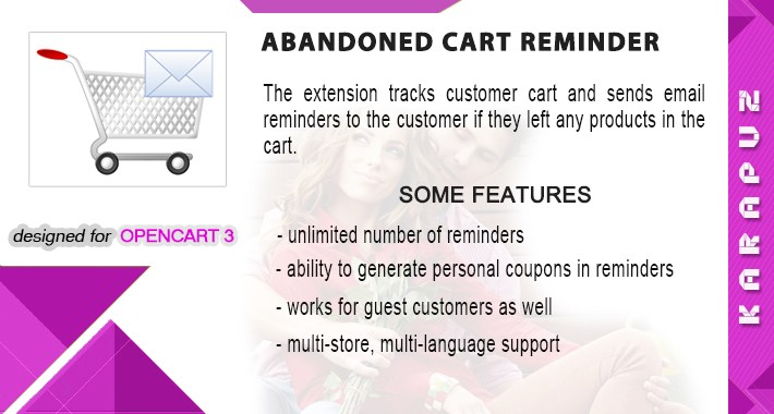 Abandoned Cart Reminder (Opencart 3)