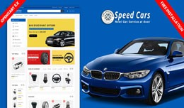 Speed Cars Responsive Opencart Theme (Free Insta..