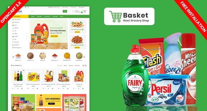 Basket Responsive Opencart Grocery Theme