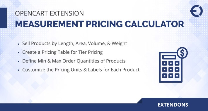 OpenCart Measurement Pricing Calculator Extension