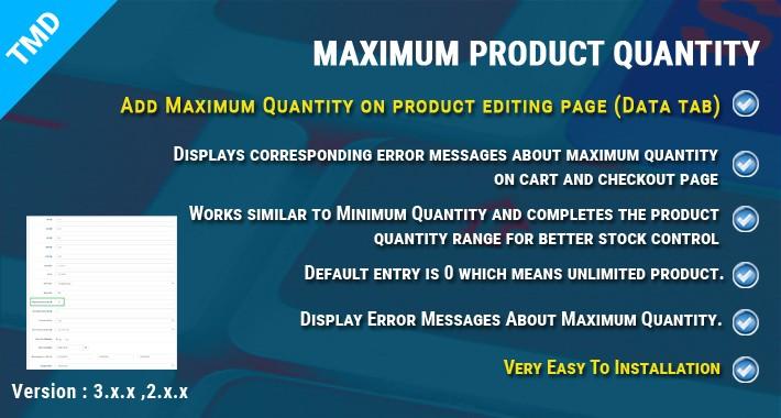 Maximum Product Quantity