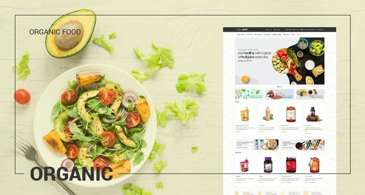 Organic - Healthy food, Vegetables, Diet - Responsive Template