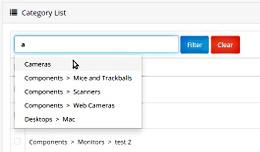Simple admin categories filter