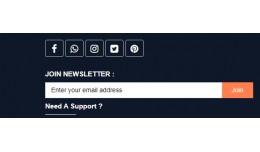 Footer Social Media Link( 3.x )