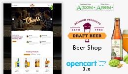Beer Draft Mega Multi Store Premium Opencart 3.x..