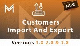 Customer Import  Export