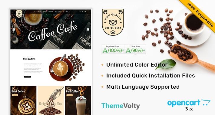 Coffee Bean Shop Mega MultiStore Premium Opencart 3.x Theme