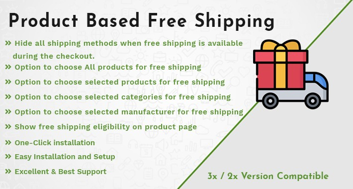 Product & Categories Based Free Shipping