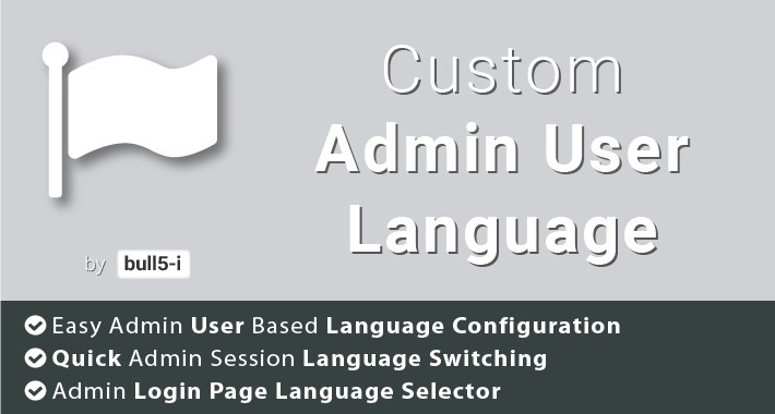 Custom Admin User Language