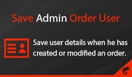 Save Admin Order User