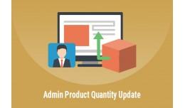 Admin - Product Quantity Update