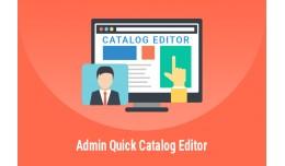 Admin Quick Catalog Editor