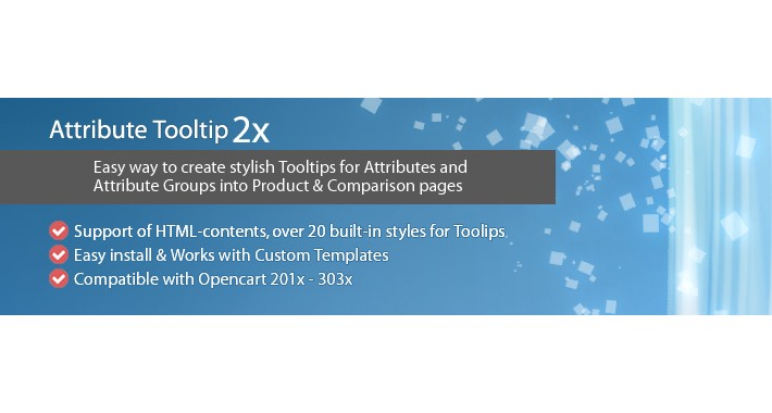 Attribute Tooltip - Tooltips for Attributes in Opencart 2x-3x