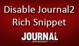 Disable Journal2 Structured Data Snippets for Op..