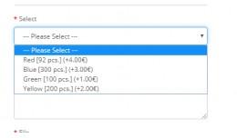 Display quantity in option field (VQMod)