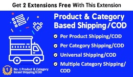 Product & Category Based Shipping Fee , COD ..