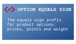 Option Equals Sign