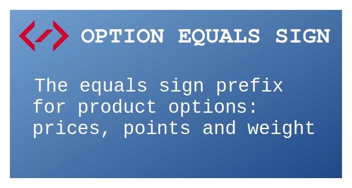 Option Equals Sign
