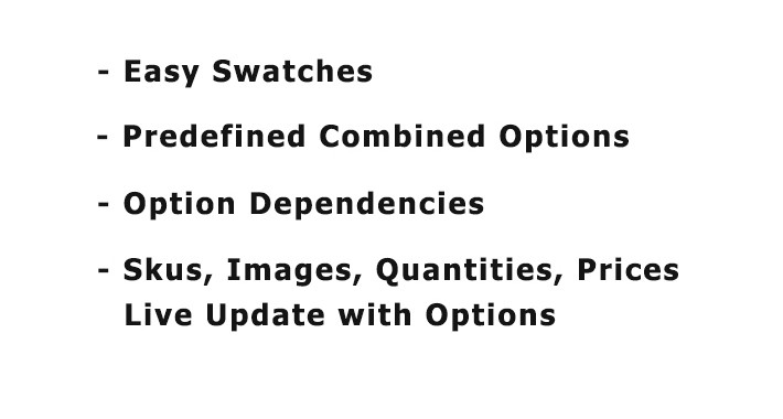 Advanced Opencart Variable Product - Combined Options