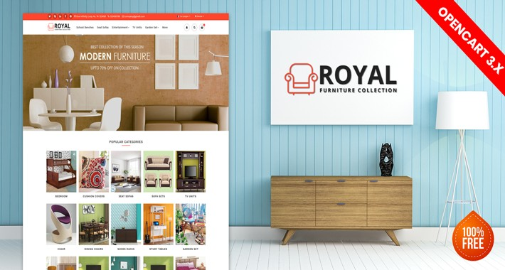 Royal Furniture website template (Free Installation)