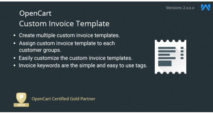 Opencart Custom Invoice Template