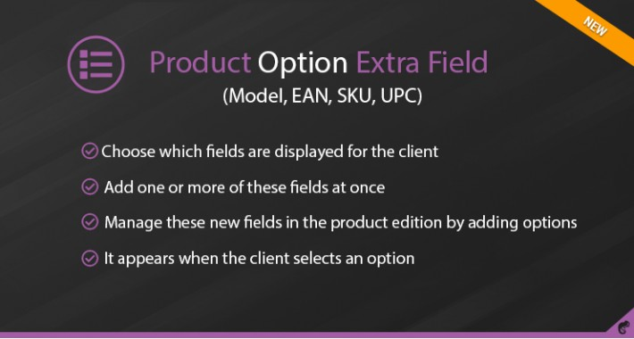 Products Option Extra Fields