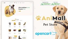 Pet Animal Food Mega Multi Store Opencart Theme
