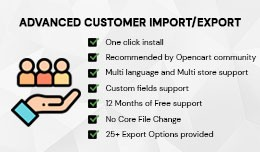 Advanced Customer import/export extension