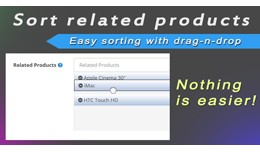 Sort related products with drag-n-drop