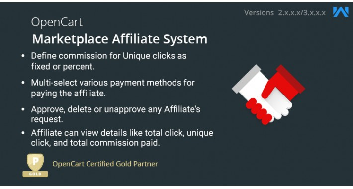 Opencart Multi Vendor Marketplace Affiliate System