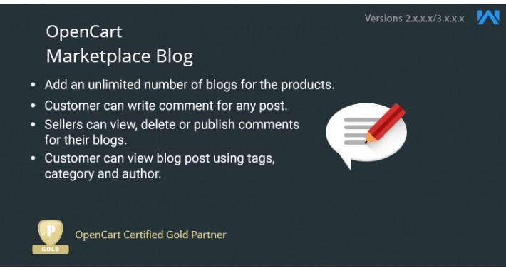 Opencart Multi Vendor Blog