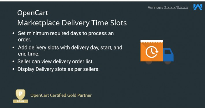 Opencart Multi Vendor Delivery Time Slots