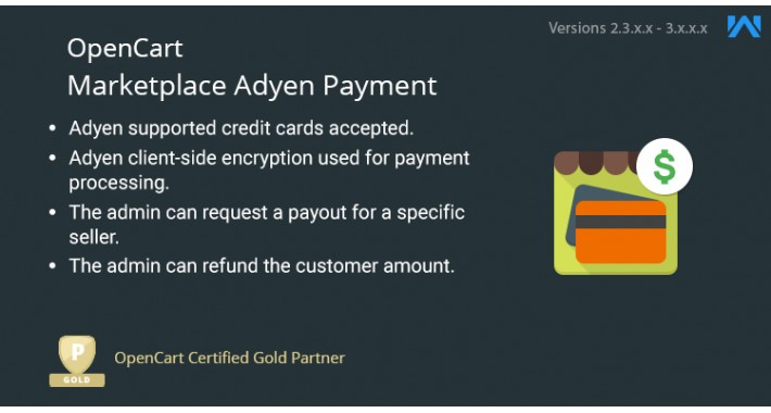 Opencart Multi Vendor Marketplace Adyen Payment