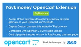 PayUmoney OpenCart Extension with Advanced featu..