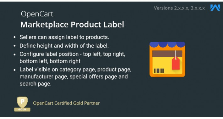 Opencart Multi Vendor Marketplace Product Label