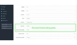 Quantity in Decimal Format