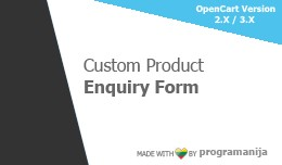 Ask About Product (custom form builder)