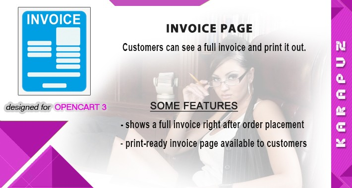 Invoice page (Opencart 3)