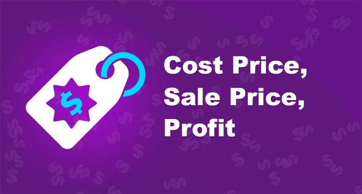 OpenCart - Cost Price, Sales Price, Profit