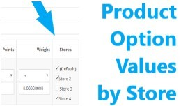 Product Option Values by Store