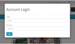 Login, Register, Logout Popup modal