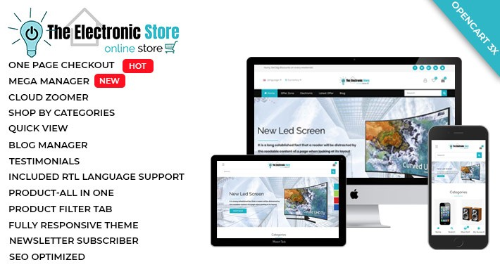 Electronic - OpenCart 3 Multi-Purpose Theme