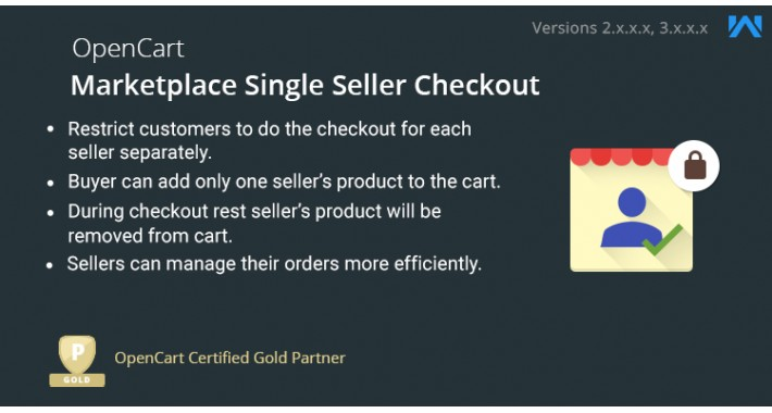 Opencart Marketplace Single Seller Checkout