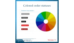 Colored order statuses