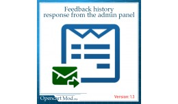 Feedback history + response from the admin panel