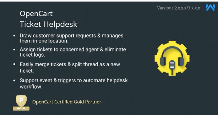 Opencart Ticket Helpdesk