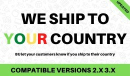 BU let your customers know if you ship to their ..